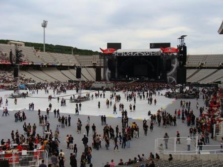Montjuic, concierto de AC/DC el 7 de junio de 2009.