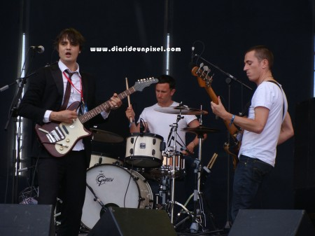 Pete Doherty y sus Babyshambles durante su actuación