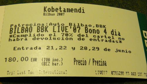 abono bbk live 2007