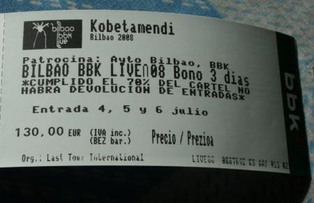 abono bbk live 2008