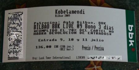 abono bbk live 2009