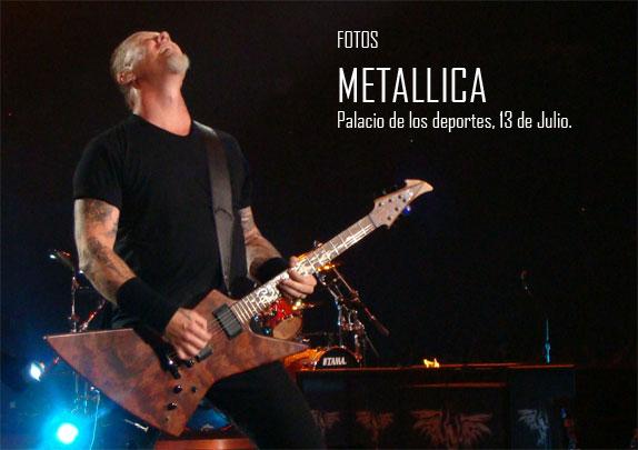 accede a la galeria de fotos de Metallica en Madrid.