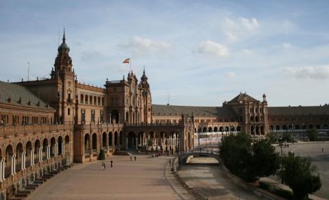 Plaza de España de Sevilla (Noviembre de 2009)