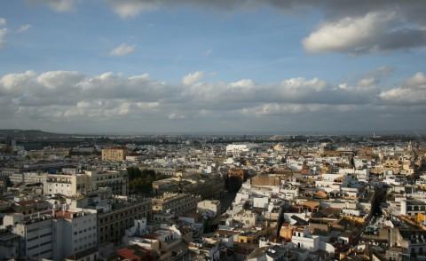 Panoramica de Sevilla desde lo alto de la Giralda.