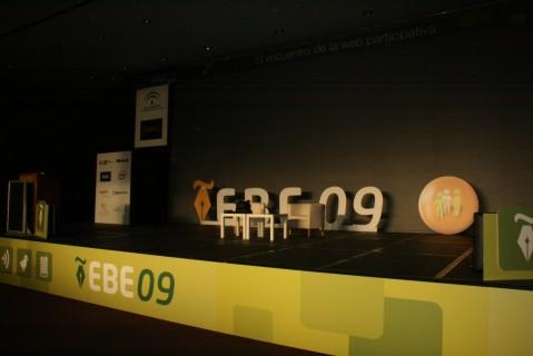 Escenario del evento blog España 2009
