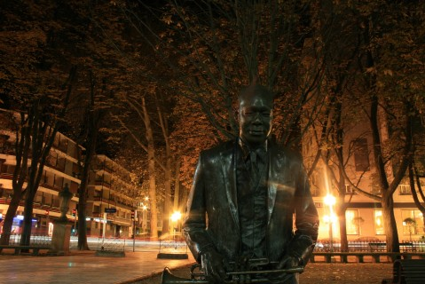 Estatua de Wynton Marsalis en Vitoria