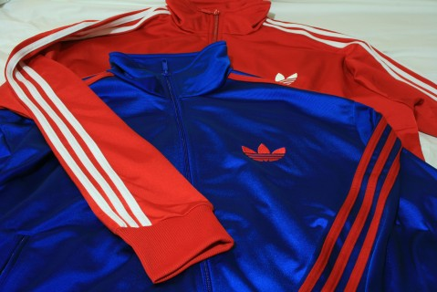 Adidas Firebird blue red