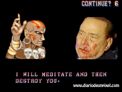 agresion Berlusconi Street Fighter humor