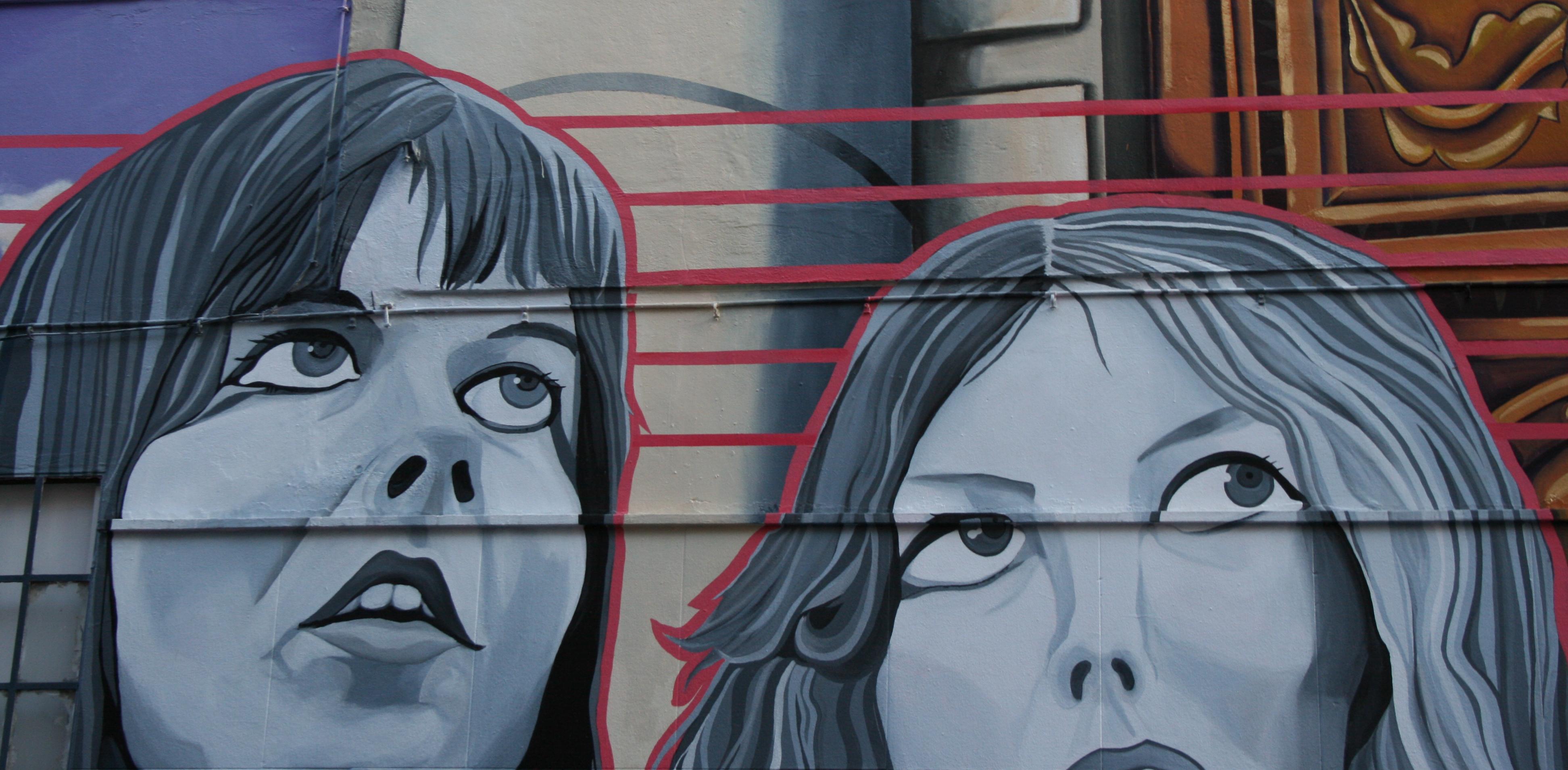 mural en el casco historico/medieval de Vitoria Gasteiz Street Art