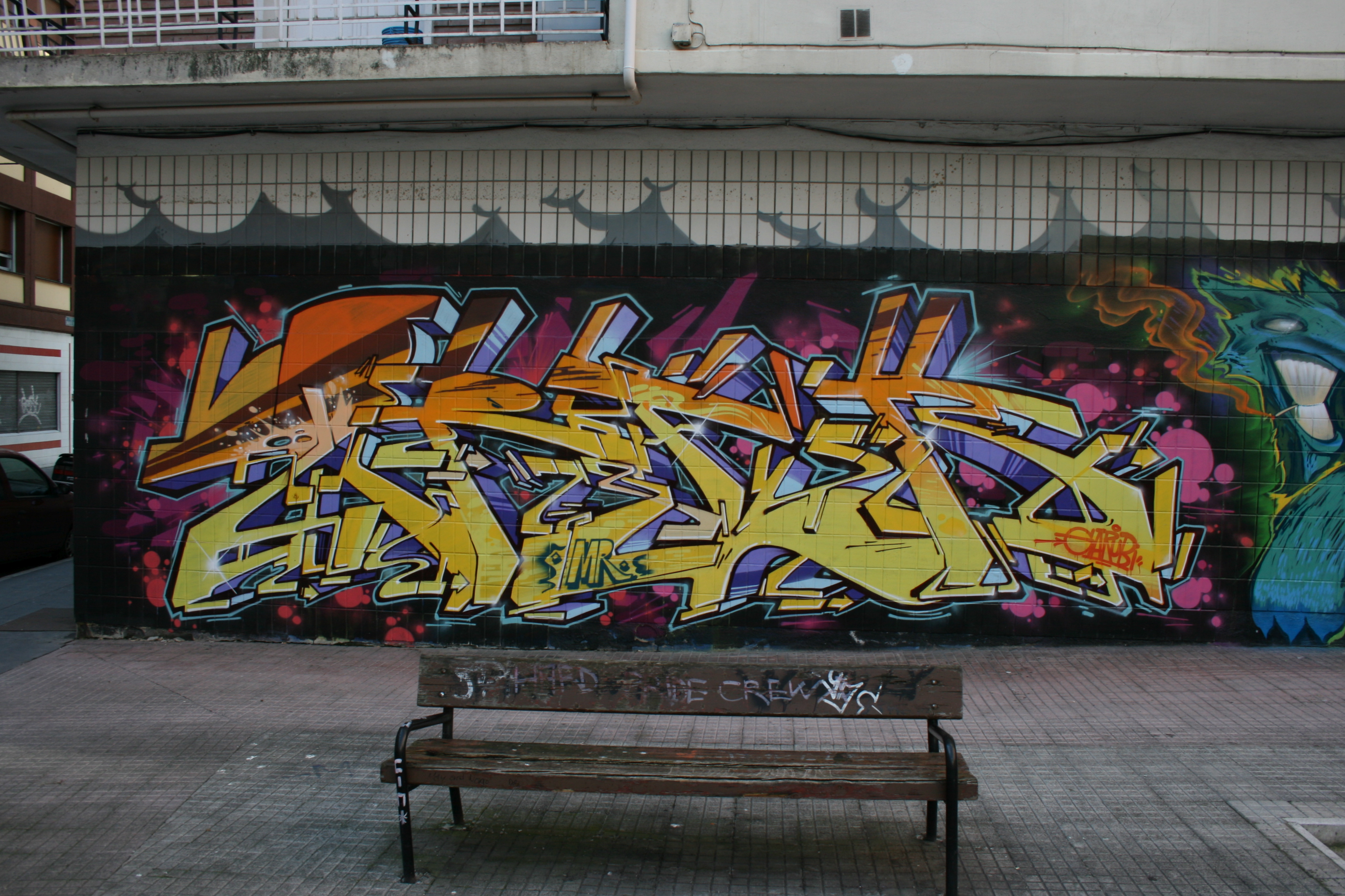 Graffiti arte urbano diario de un p xel - Graffitis en paredes ...