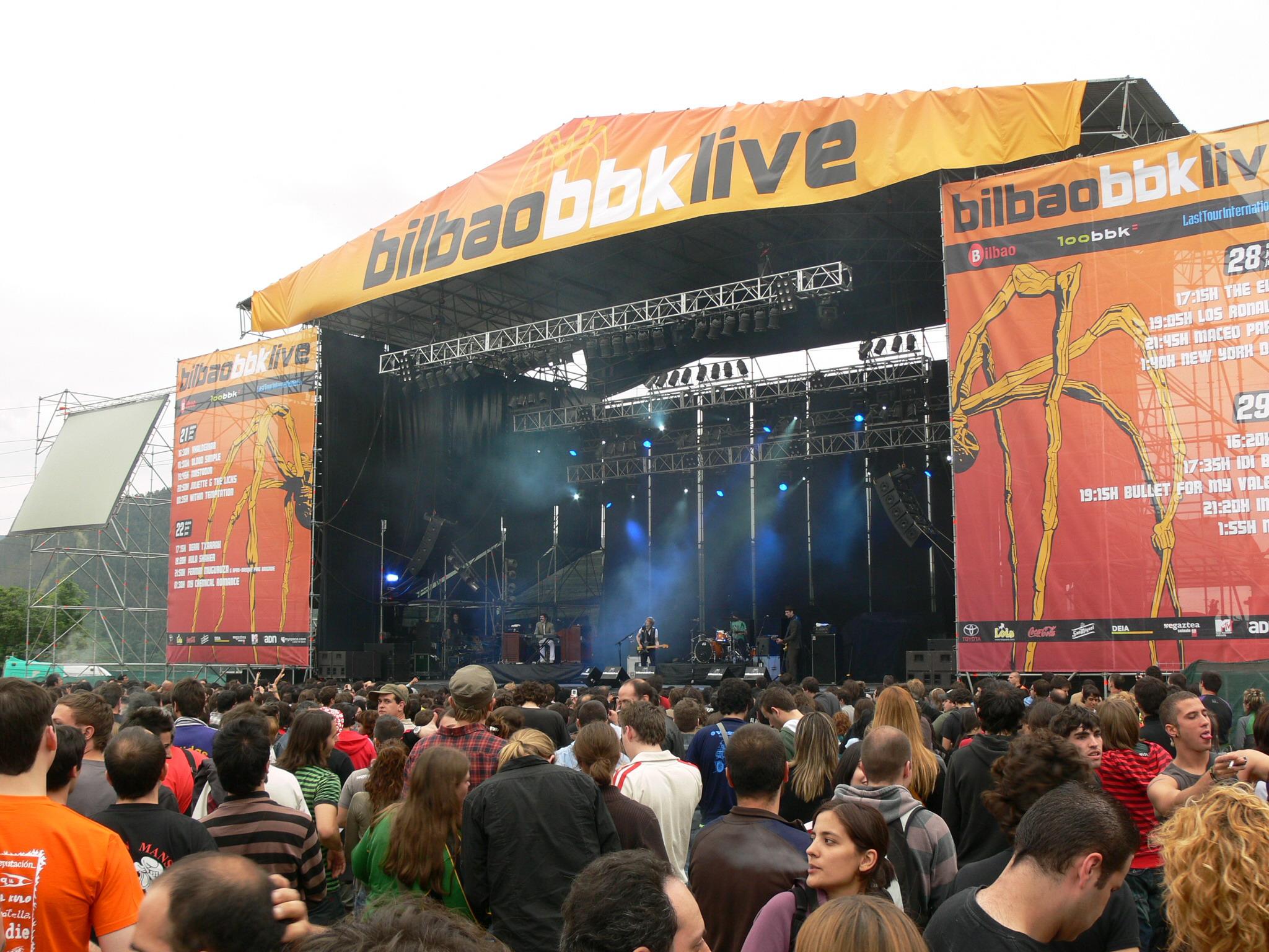 Escenario del festival de música Bilbao BBK Live