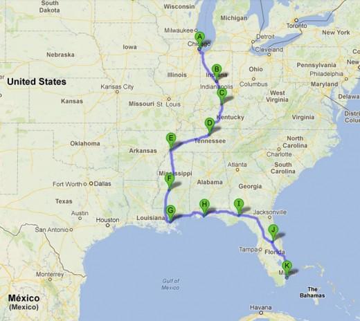 Mi viaje a lo largo y ancho de los Estados Unidos