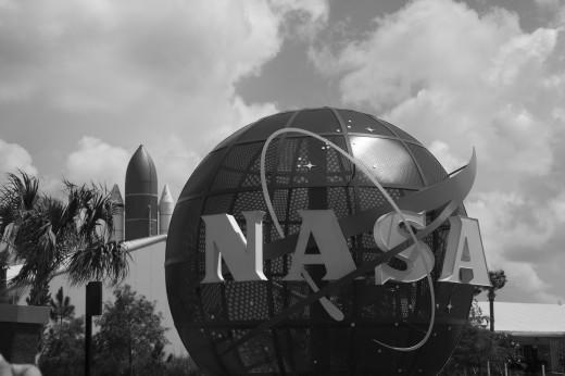 Entrada del Centro Espacial Kennedy, en Florida