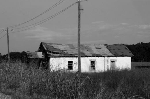 Una vieja casa destartalada en pleno estado de Mississippi