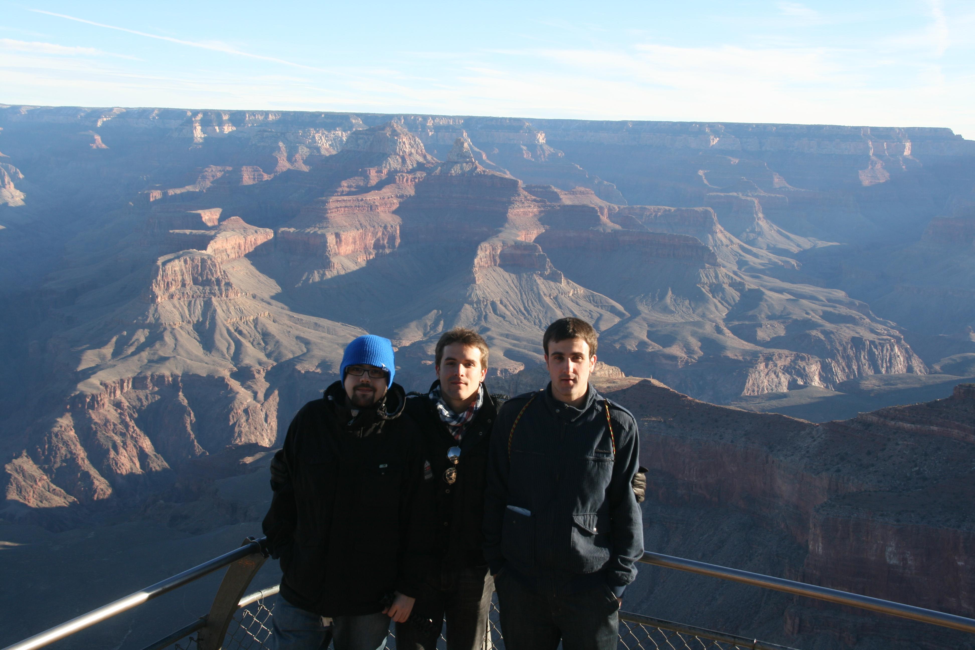 pixelillo y amigos en el Gran Cañón (Arizona), allá por enero de 2011.