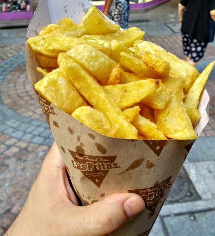Las fritas en Bilbao