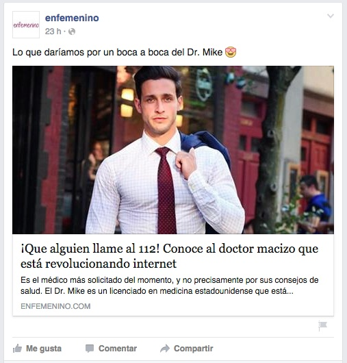Publicación denigrante enfemenino.com